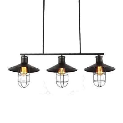 Industrial Style Island Lighting Industrial Style Three Light Billiard Kitchen Led Island Light In Black Finish Beautifulhalo