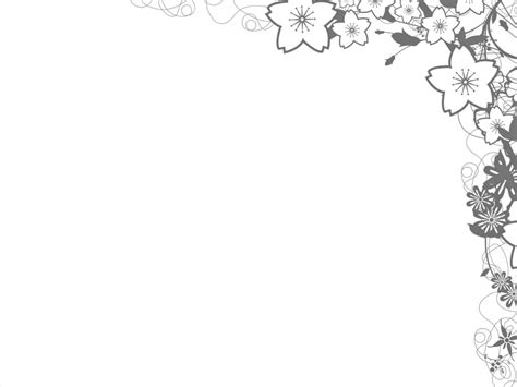 flower border template background flower design for power point clipart best