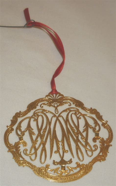 vintage colonial williamsburg brass christmas ornament