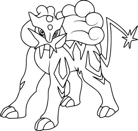 pokemon coloring pages suicune pokemon raikou coloring pages images pokemon images