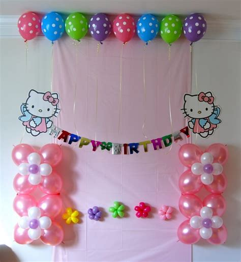 birthday decoration ideas at home with balloons home design latest styles to celebrate happy birthday trendy mods simple birthday decorations