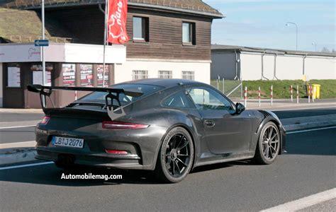 gt3 porsche 2018 porsche gt3 rs and gt2 rs spied automobile magazine