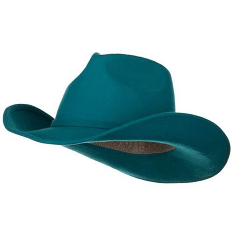s felt cowboy hat turquoise