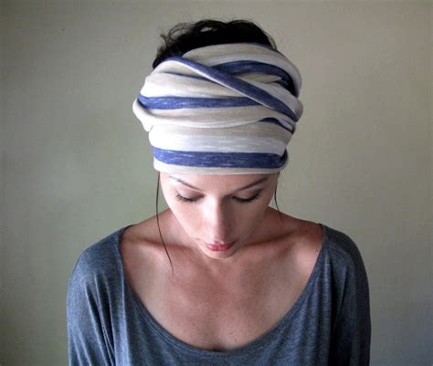 striped scarf hair wrap headband all in one womens