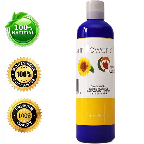 sunflower oil hair products all natural sunflower seed oil 4 oz maple holistics