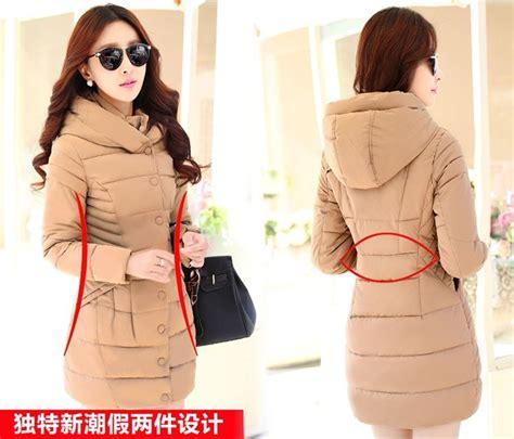 Cats Hodie Jaket Wanita jaket musim dingin korea khaki padded jacket