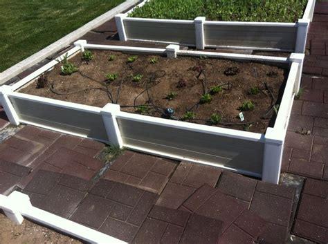 vinyl raised garden beds vinyl raised bed garden planters raised garden border