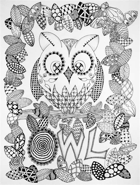 Zentangle Coloring Page Zentangle Halloween Coloring Pages