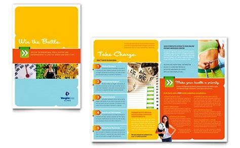 design leaflet kesehatan contoh pamflet brosur klinik terapi penuruan berat badan