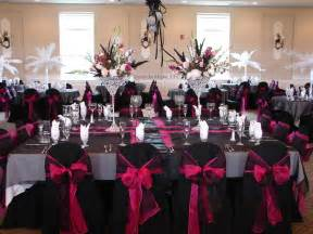 pink and black centerpieces for weddings ideas for black pink and bling wedding colors