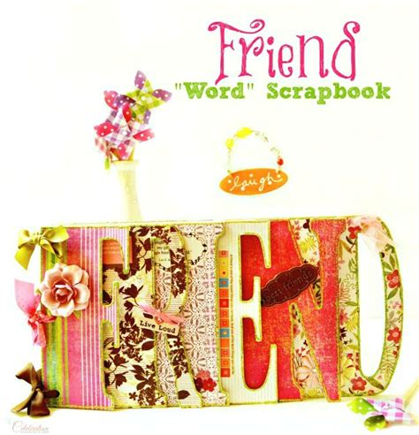 Is Handmade One Word Or Two - friend word scrapbook miss celebration