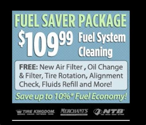 national tire battery coupon   fuel saver cleaning package alcom
