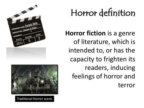 fantasy film genre conventions codes and conventions of a horror