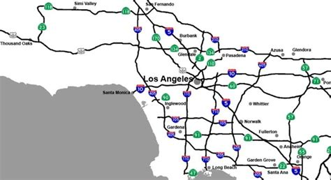 map of southern california freeway system freeway map southern california california map