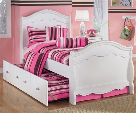 Girls Twin Trundle Bed Exquisite Twin Sleigh Bed And Trundle Ashley Furniture