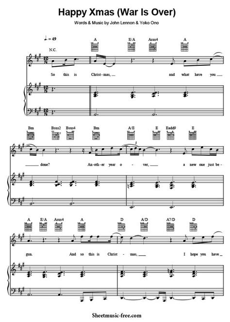 tutorial piano war is over happy xmas war is over sheet music john lennon download