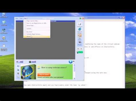 how to use a fake webcam in chatroulette omegle manycam