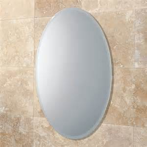 Bathroom Mirror Oval Hib Alfera Oval Bathroom Mirror