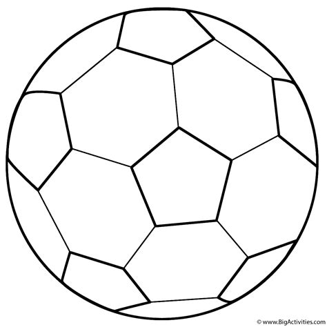 Coloring Pages Of Soccer Balls soccer coloring page sports