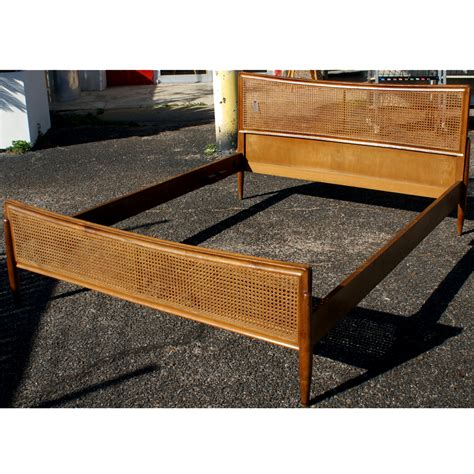 cane bed frame 60 quot queen vintage danish cane bed frame ebay