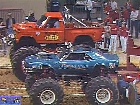 old monster truck videos blue thunder and awesome kong monster trucks pinterest