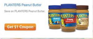Planter Peanuts Coupons by Planters Peanut Butter Coupon Save 1 00