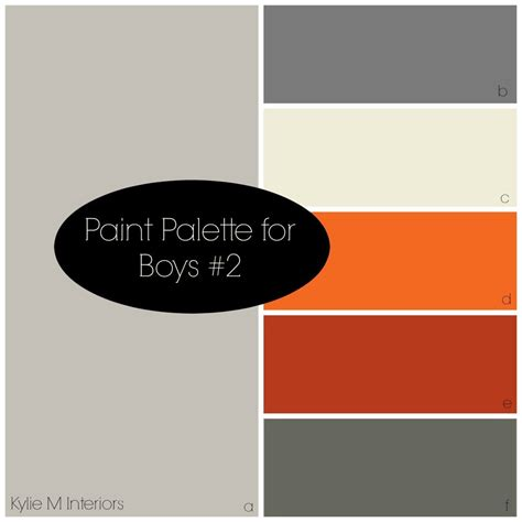 bedroom color palette 3 gray paint colour palettes boys bedroom benjamin and