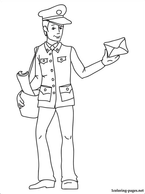 postman coloring page coloring pages