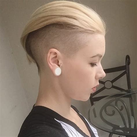 hair cuts that are shaved on both sides and long on the top for women 705 best buzzcut images on pinterest short hairstyle
