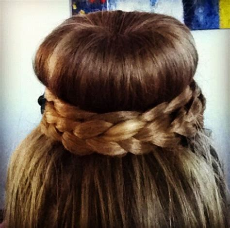hairstyles with a hair donut hair donut bun braid hair styles pinterest donuts