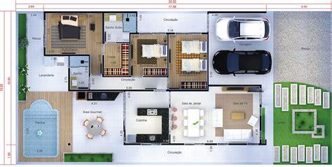 projeto casa projeto de casa t 233 rrea 3 quartos planta para terreno
