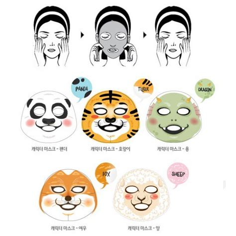 The Faceshop Character Mask Sheet news get and moisturised with the shop s