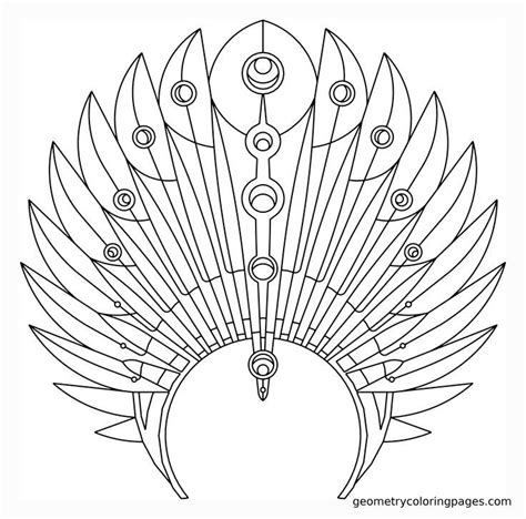 indian headdress template indian headdress coloring page coloring home