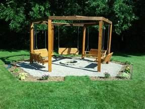 octagon five swing backyard swing fire pit cool things in the yard pinterest swings