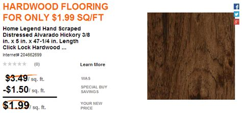 home depot hardwood flooring only 1 99 sq ft free