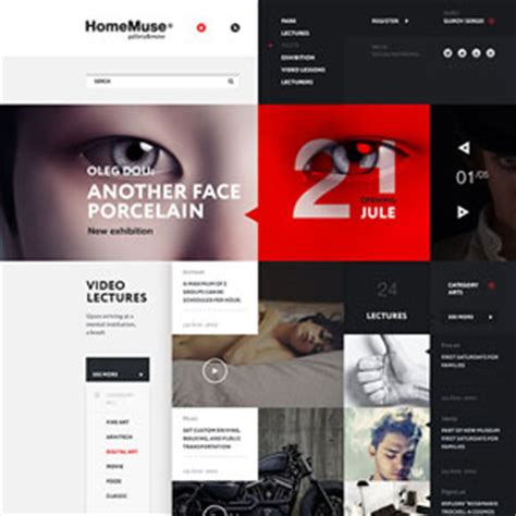 html design gallery web design by sergei gurov for homemuse gallery