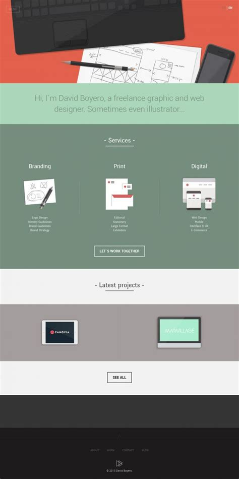 web design from home inspirational freelance web design david boyero a freelance graphic and web designer