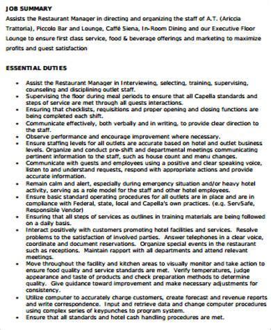 Supervisor Description For Resume by 8 Sle Supervisor Resumes Sle Templates