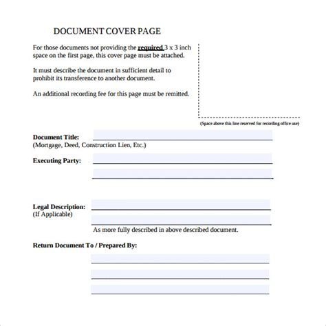 template of page sle cover page template 14 free documents in pdf