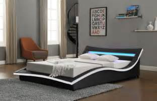 cheap small double bed details about new modern designer bed led light headboard