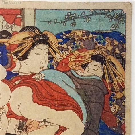 japanese prints ukiyo e in 0714124532 antique signed japanese shunga ukiyo e woodblock print 1 ebay
