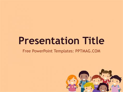 free children powerpoint template pptmag