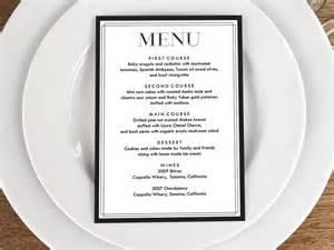 menu card template pdf menu template classic black and white