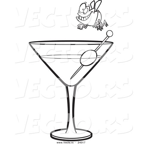 martini cartoon martini glass coloring pages sketch coloring page