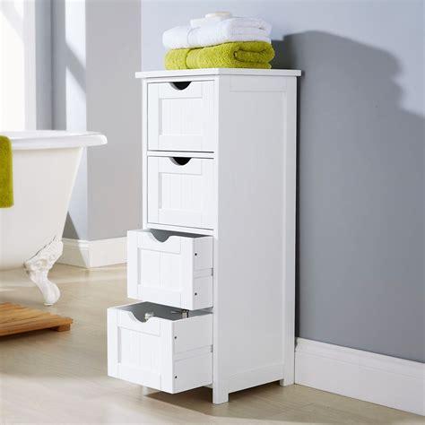 white multi use bathroom storage unit 4 drawer cabinet cupboard shaker style ebay