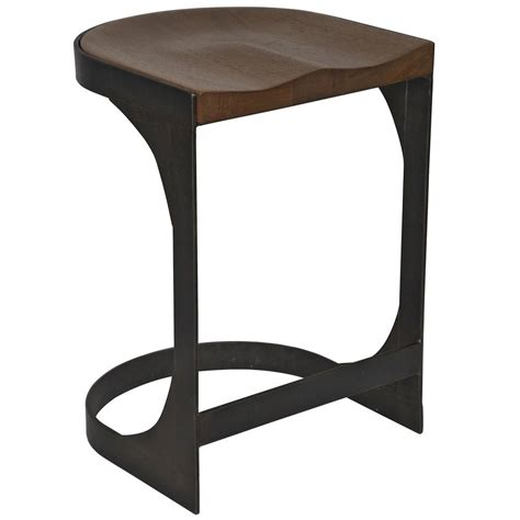 Wood And Metal Stool by Andie Industrial Loft Modern Rustic Wood Metal Counter