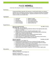 Behavioral Specialist Consultant Sle Resume by 8 Amazing Social Services Resume Exles Livecareer