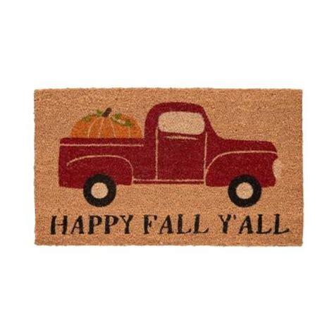 Fall Door Mats Home Accents Fall 17 In X 29 In Coir Door