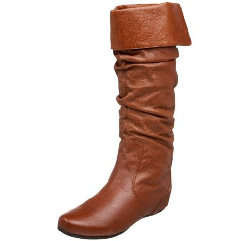steve madden s cybul flat boot cognac leather 7 m us