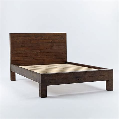 West Elm Reclaimed Wood Bed by Emmerson Reclaimed Wood Bed Chestnut West Elm